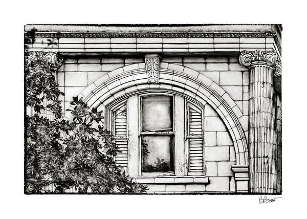 Elegance In The French Quarter In Black And White Print by Brenda Bryant
