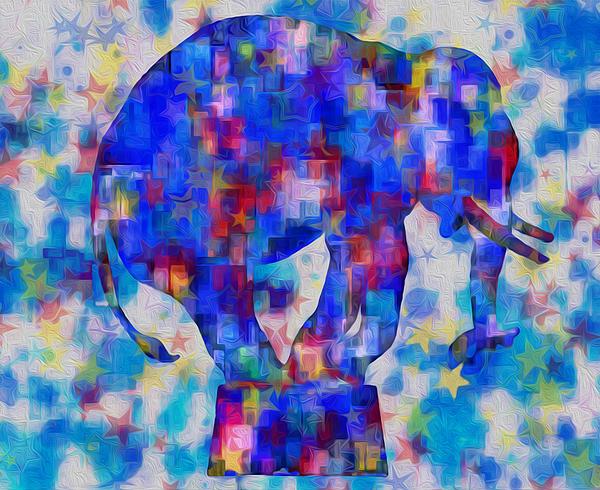 Elephant Blues Print by Jack Zulli