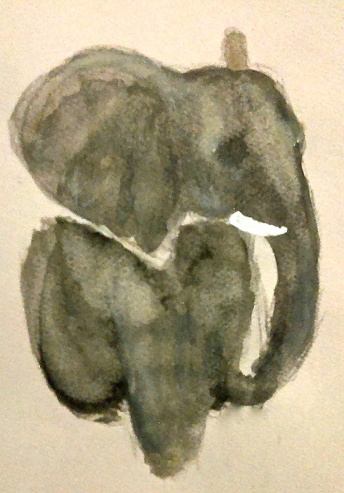 Jennie Hallbrown - Elephant in Gray