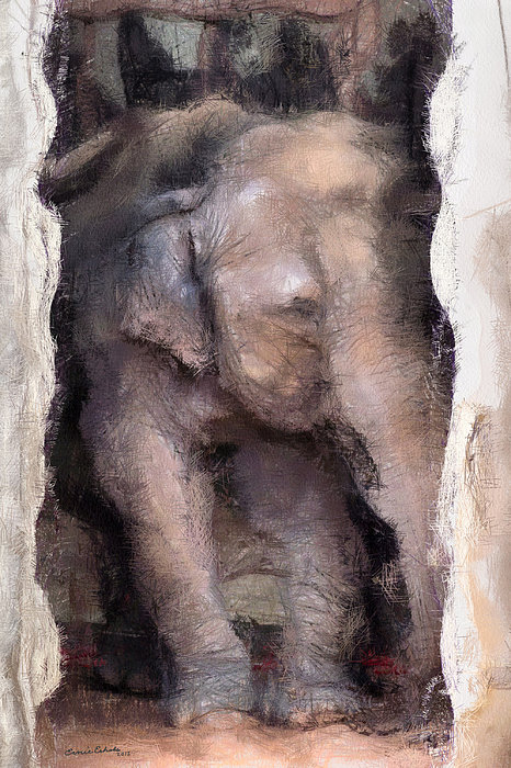 Ernie Echols - Elephant Painterly