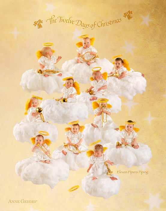 Eleven Pipers Piping Print by Anne Geddes