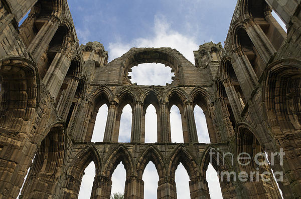 Elgin Cathedral Ruins Print by Ron Pettitt