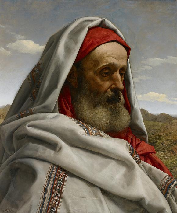Eliezer Of Damascus Print by William Dyce