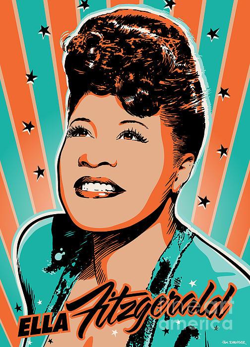 Ella Fitzgerald Pop Art Print by Jim Zahniser