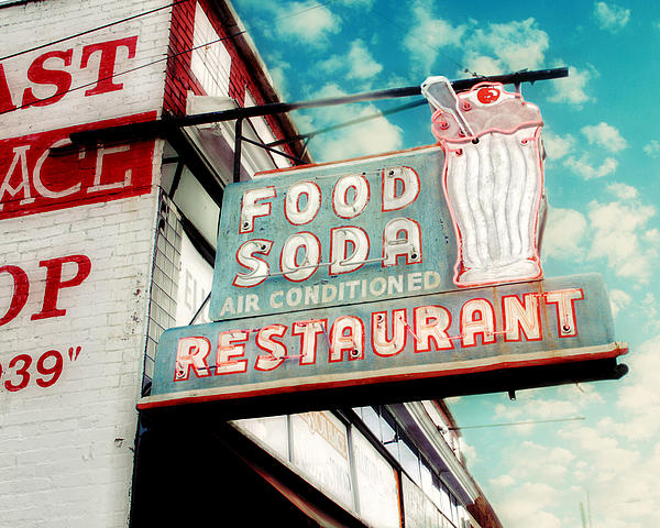 Elliston Place Soda Shop Print by Amy Tyler
