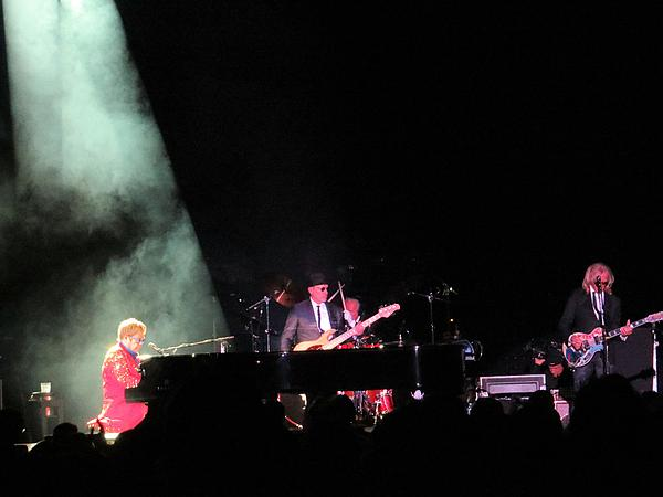 Elton And Band Print by Aaron Martens