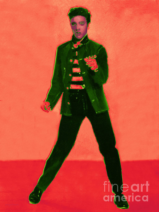 Elvis Is In The House 20130215m40 Print by Wingsdomain Art and Photography