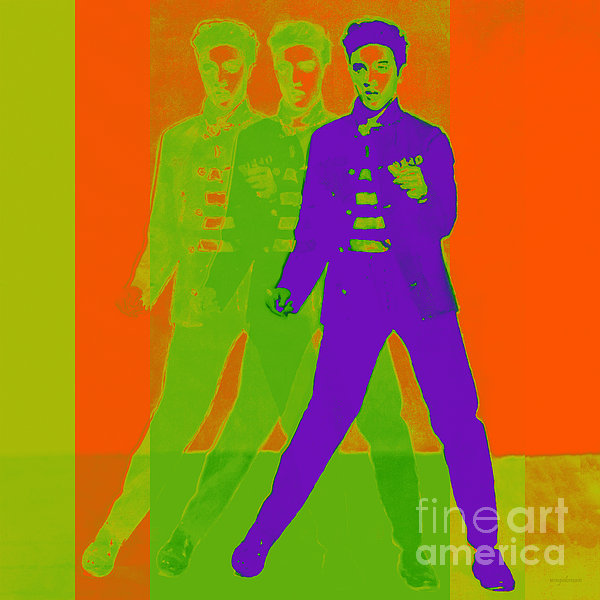 Elvis Jail House Rock 20130215m28 Print by Wingsdomain Art and Photography