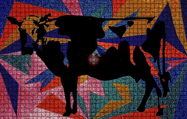 Elvis My Cow Print by Robert Margetts