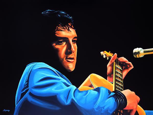 Elvis Presley 2 Print by Paul  Meijering