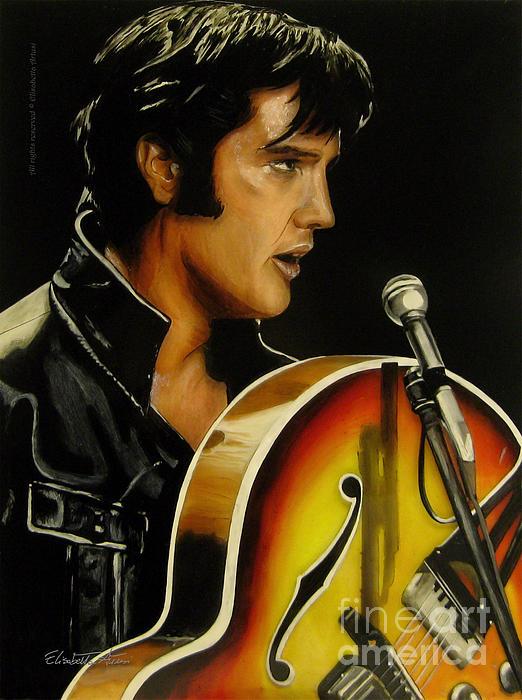 Elvis Presley Print by Betta Artusi