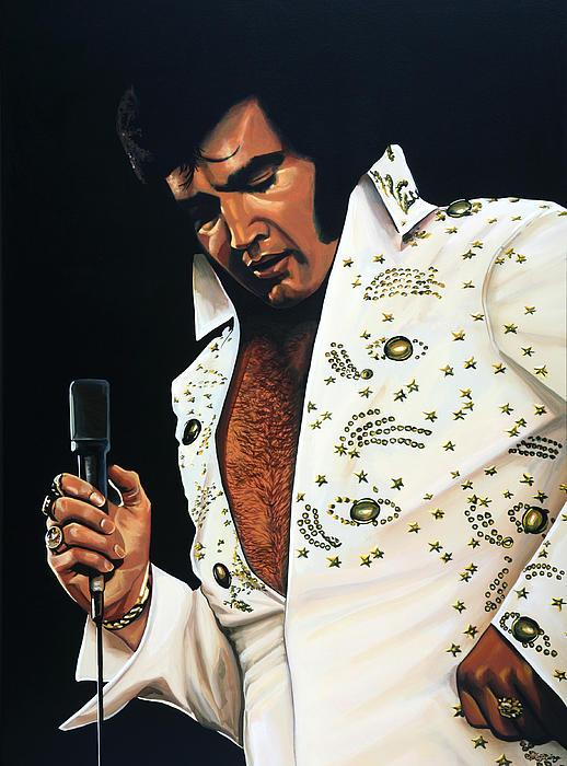 Elvis Presley Print by Paul  Meijering