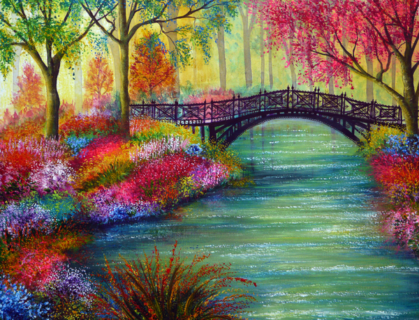 Elysian Bridge Print by Ann Marie Bone