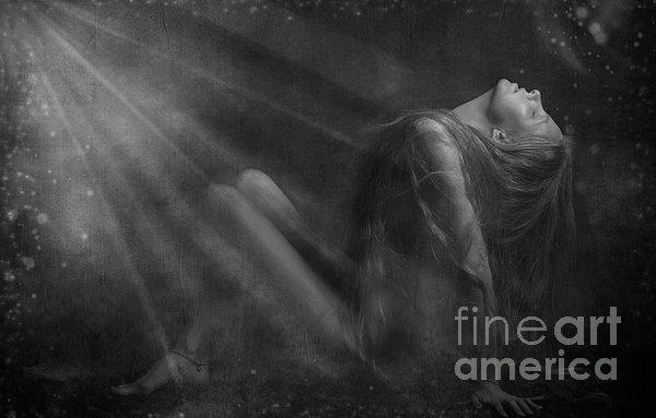 Embraced By The Light.. Print by Nina Stavlund