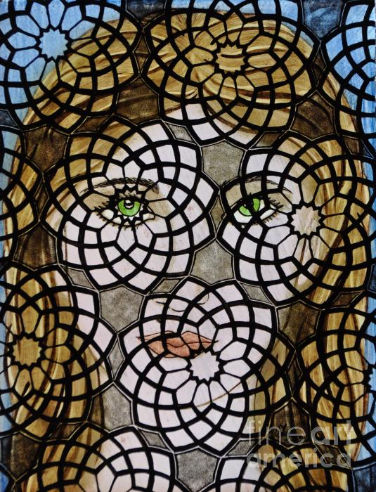 Emerald Eye's Print by Valerie Lynn