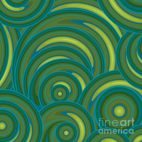 Emerald Green Abstract Print by Frank Tschakert
