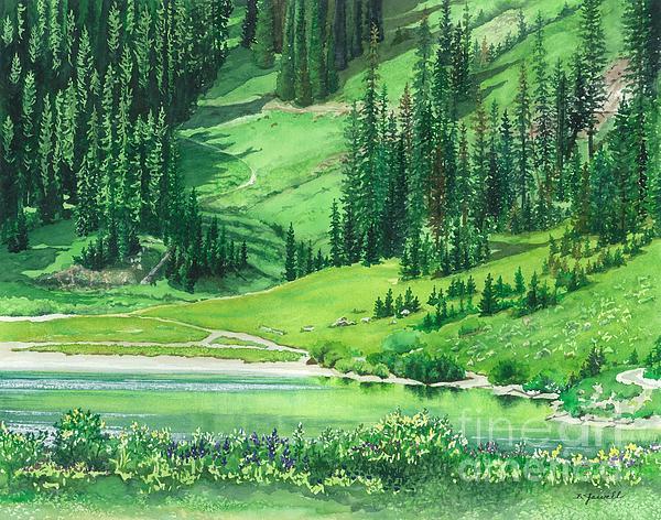 Emerald Lake Print by Barbara Jewell