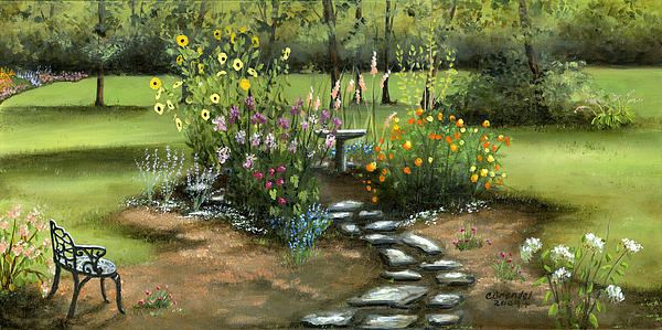 Emily's Garden Print by Cecilia  Brendel