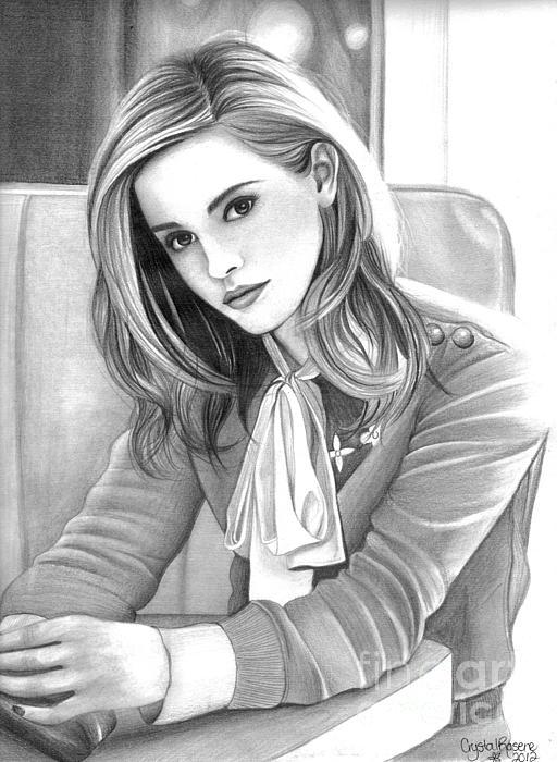 Emma Watson Print by Crystal Rosene