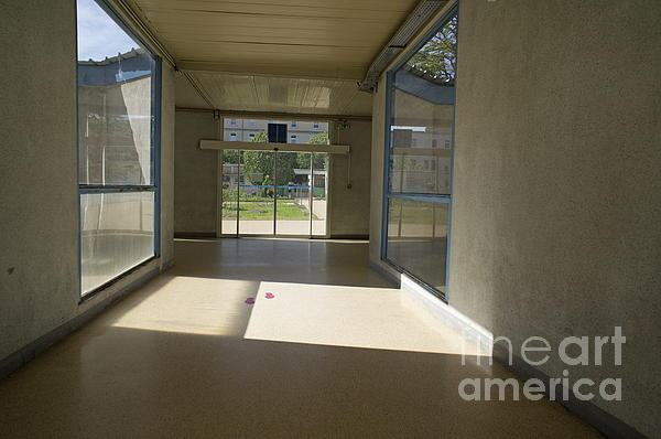 Empty Corridor At Public Hospital Print by Sami Sarkis