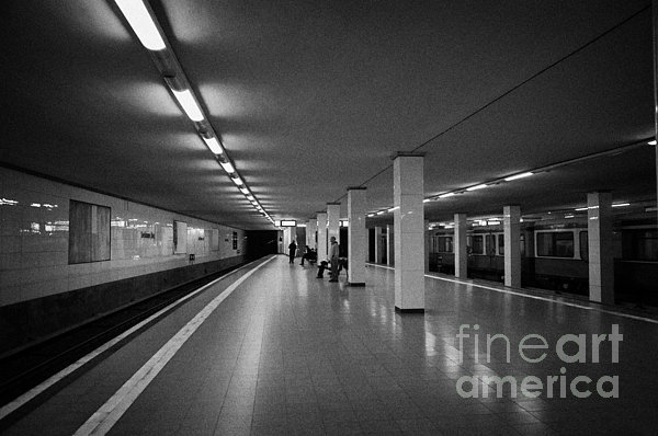 empty Potsdamer Platz s-bahn station Berlin Germany Print by Joe Fox