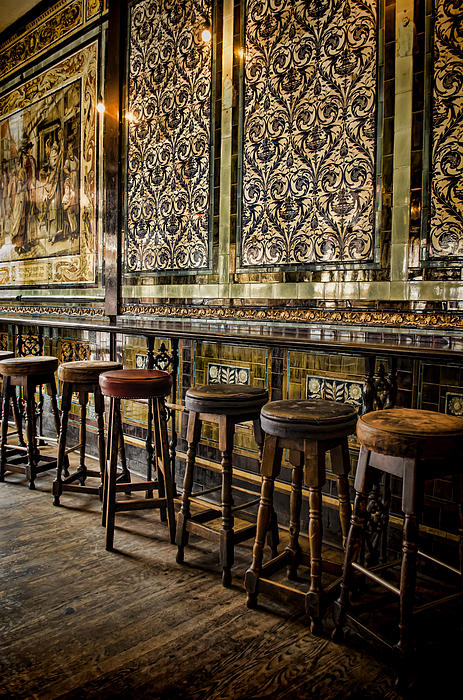 Empty Pub Print by Heather Applegate