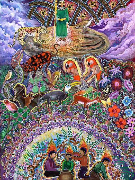 Encanto Rumi  Print by Pablo Amaringo