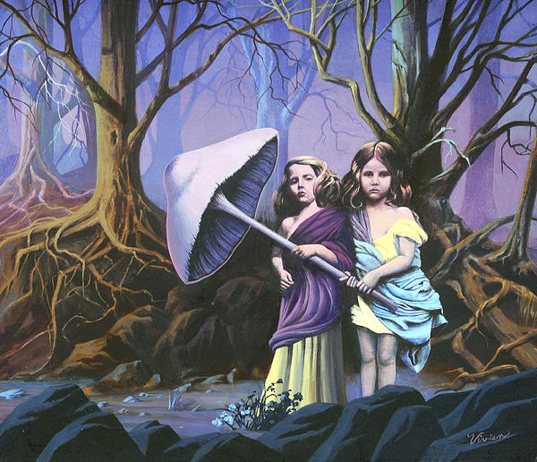 Enchanted Forest Print by Vivien Rhyan