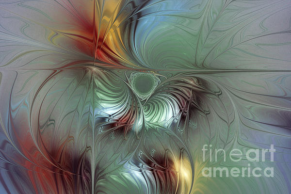 Enchanting Flower Bloom-abstract Fractal Art Print by Karin Kuhlmann