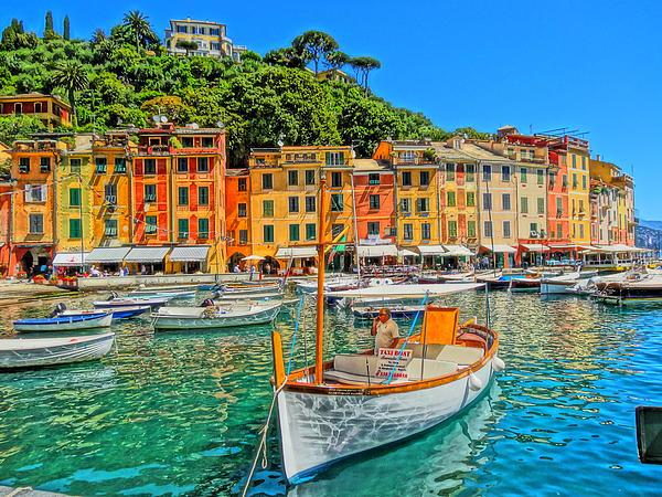 Enchanting Portofino In Ligure Italy V Print by M Bleichner