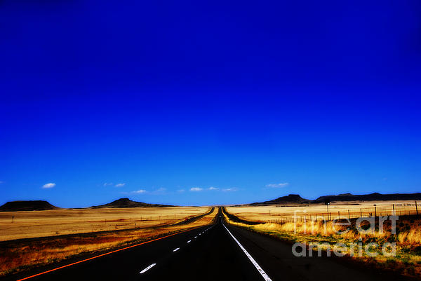 Endless Roads In New Mexico Print by Susanne Van Hulst