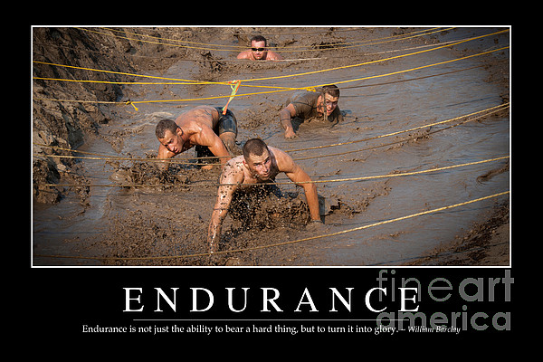 Endurance Inspirational Quote Print by Stocktrek Images