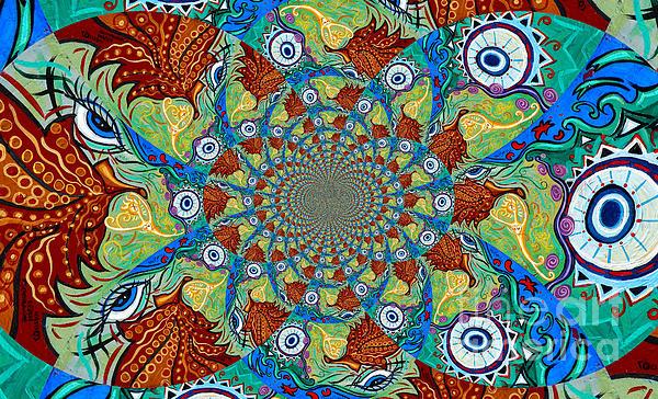 Energy Sprite Kaleidosope Print by Genevieve Esson