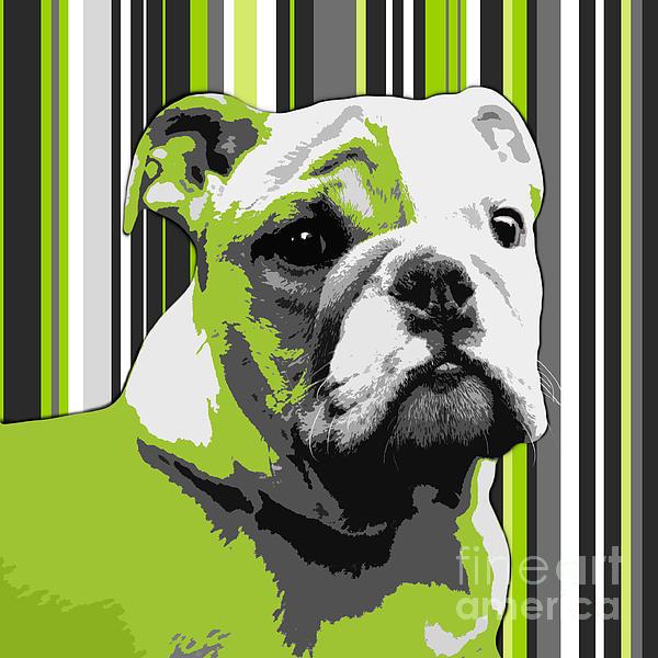 English Bulldog Puppy Abstract Print by Natalie Kinnear