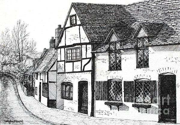 English Village Print by Shirley Miller