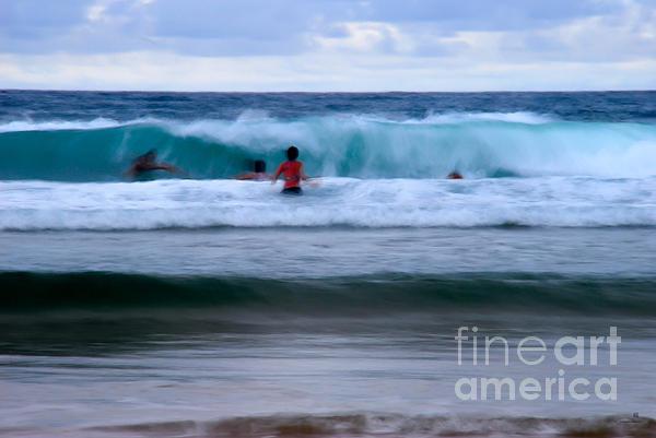 Enjoy The Ocean 2 Print by Hannes Cmarits