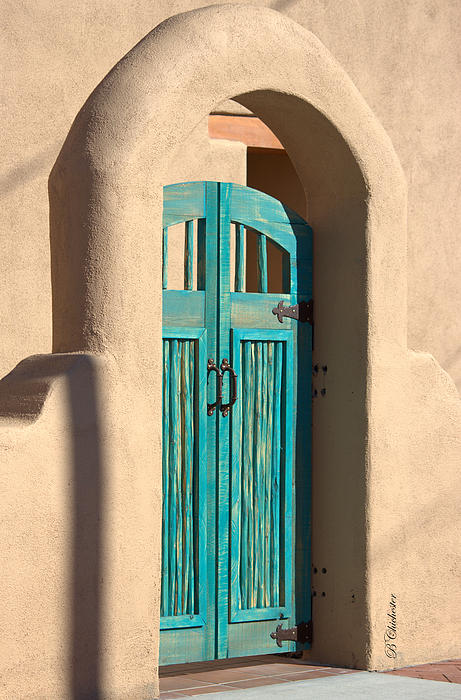 Enter Turquoise Print by Barbara Chichester