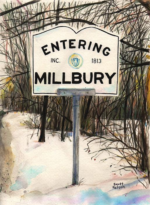 Entering Millbury Print by Scott Nelson