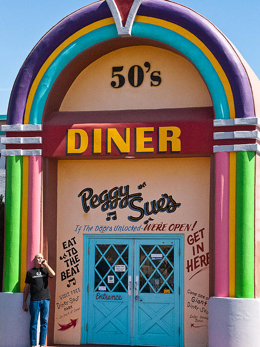 Entrance Peggy Sues 1950s Diner Yermo California Print by Robert Ford