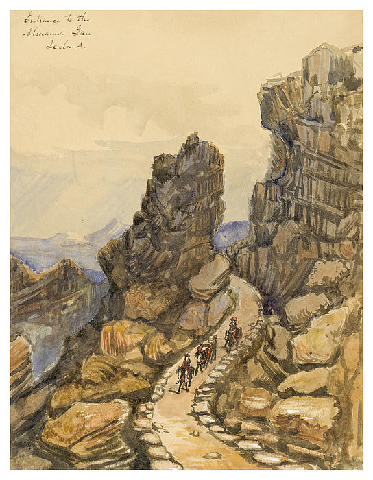 Entrance To The Almanna Gau Circa 1862 Print by Aged Pixel