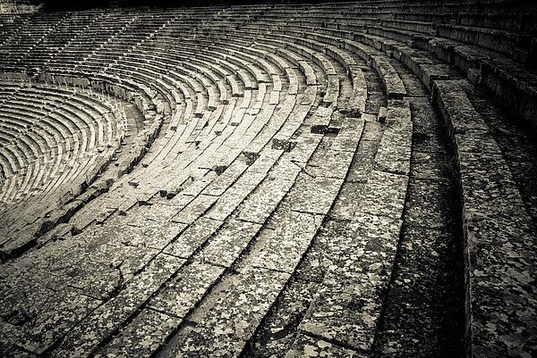 Epidavros Theatre Seats Print by David Waldo