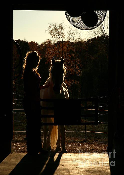 Equestrian Silhouette Print by Suzi Nelson