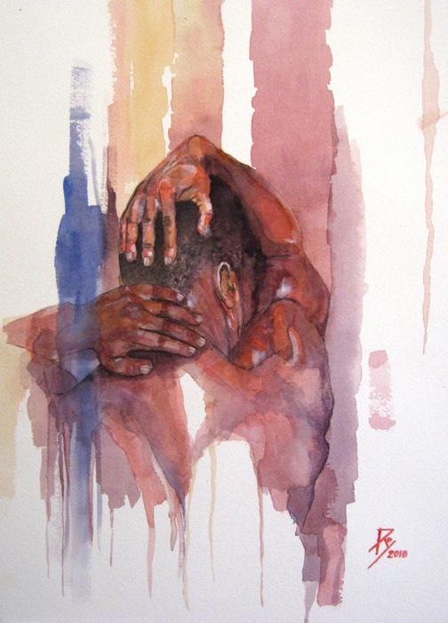 Erasto Man Of Peace Print by Ray Agius