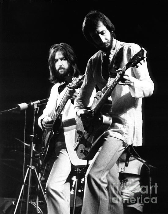 Eric Clapton And Pete Townshend  Print by Chris Walter