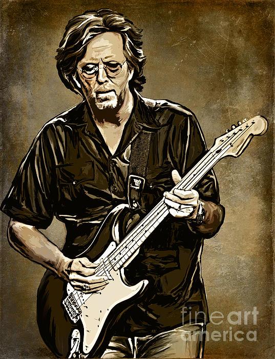 Eric Clapton Print by Andrzej Szczerski