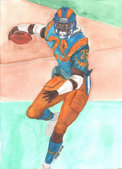 Eric Dickerson Los Angeles Rams Print by Paul McRae