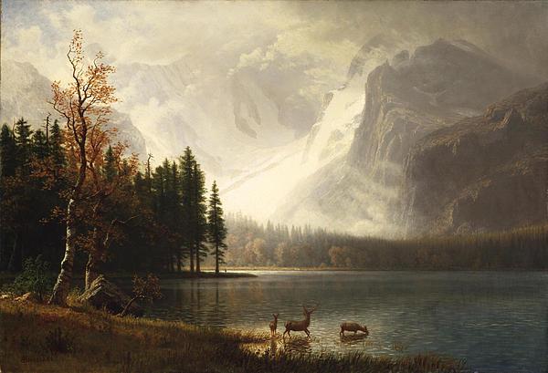 Estes Park Colorado Whytes Lake Print by Albert Bierstadt