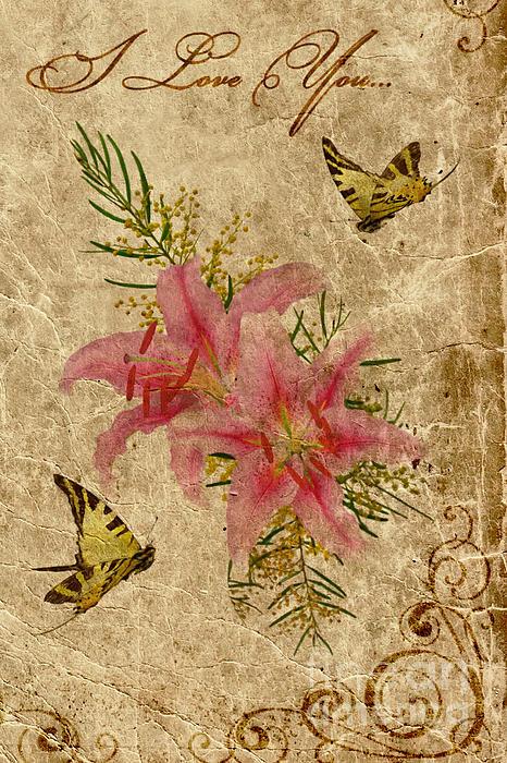 Eternal Love Message Print by Olga Hamilton