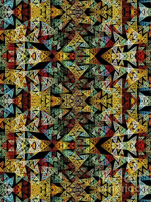 Etno Style Pattern Print by Klara Acel