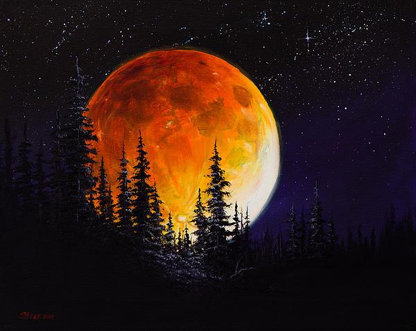 Ettenmoors Moon Print by C Steele